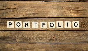Portfolio, text, letters.